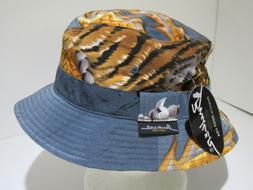 Vintage Mega USA Bucker New York Blue Deadstock Bucket Cap L