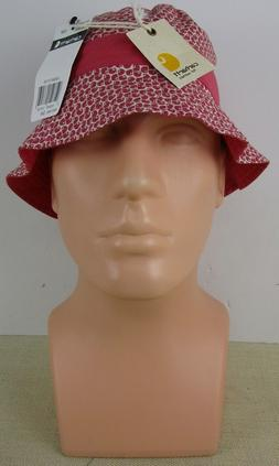 CARHARTT WA073 WRS WOMEN'S PINK AND WHITE HAT SIZE M/L NEW W