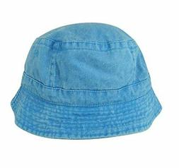 DALIX Washed Cotton Bucket Hat In X-Large Baby Teal