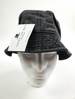 The Hat Depot Washed Cotton Denim Bucket Hat  NWT
