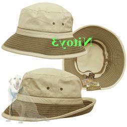 Dorfman Pacific Washed Twill Bucket Hat/Cap - UPF 50+ Men La