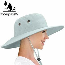 Waterproof Sun Hat Outdoor Wide Brim Bucket Boonie Cap For S