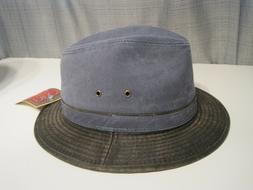 Dorfman Pacific Weathered cotton FEDORA Hat Size LARGE