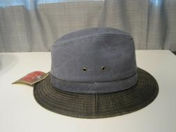 Dorfman Pacific Weathered cotton FEDORA Hat Size MEDIUM