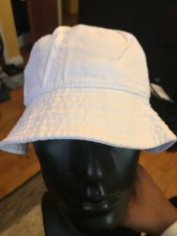 White Bucket Hat Fishing Cap Hip hop Unisex Summer Beach hat