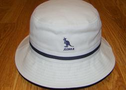 White  KANGOL  Stripe LaHinch  Bucket Hat  Style  K4012SP