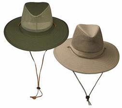 Wide Brim Bucket Hat UPF-50 Sun Protection w/ Mesh Crown Bre