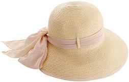 Simplicity Women's Wide Brim Summer Beach Straw Hats 2049_Na
