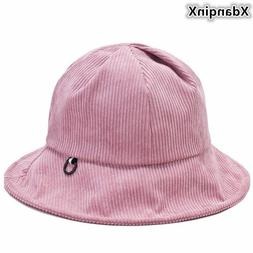 XdanqinX Winter Women's Bucket Hats Corduroy Cotton Elegant