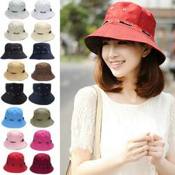 Women Bucket Hats Flat Sun Visor Traveling Fishing Outdoor S