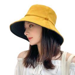 women bucket reversible double side sun uv