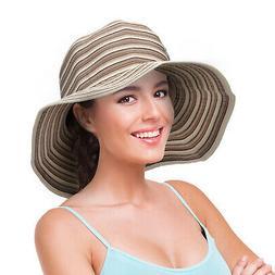 Women Floppy Sun Bucket Hats  Summer UV Protection Foldable