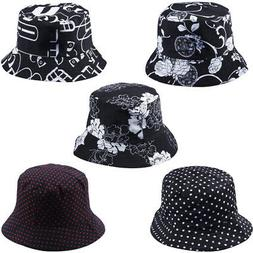 Women Floral Sun Hat Sunscreen Bucket Hat Travel Holiday Fis