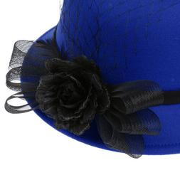 Women Lady Graceful Wide Brim Hats Church Dress Party Occasi
