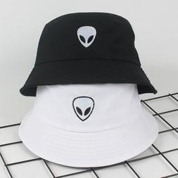 Women Men Alien Bucket Hat Soild Print Cotton Cool Fisherman