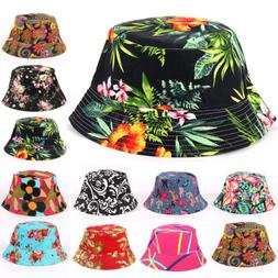Women Men Boonie Bucket Hat Festival Fishing Outdoor Floral