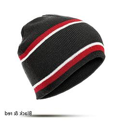 Women Men Winter Beanies Hat Striped Knitting Hat Fashion Ou