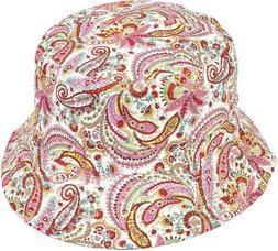 Women Paisley Floral Bucket Reversible Hat Cotton Summer Hat