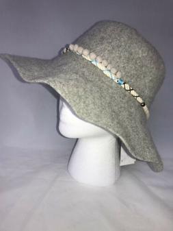 August Hat Company Women's Floppy Hat Bucket Gray Boho Wool