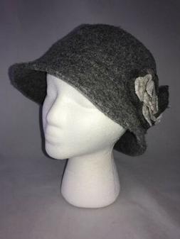 Nine West Women's Gray Floral Bucket Hat Cap Fashion One Siz