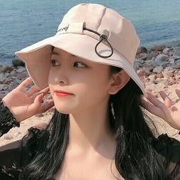 Women's Sun Hats Floppy Beach Hat Letter Embroidery Ruffles