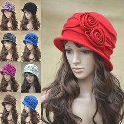 Womens 1920s Style Look 100% Wool Beret Beanie Cloche Bucket