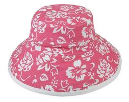 Womens New Floral Bucket Hat Cotton Canvas Reversible Sun Ha