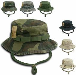 Woodland Camo Military Boonie Hunting Army Fishing Bucket Ha