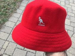 Kangol Wool Lahinch RED Old School Bucket Flat Bucket Hat Ca