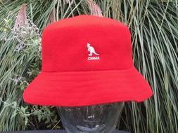 Kangol  Wool Lahinch RED Old School Bucket Flat  Bucket Hat