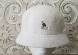 WOW! KANGOL BERMUDA CLOCHE BUCKET HAT * WHITE * 3483BC03 * N
