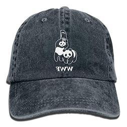 Jiuyuan WWF Panda Bear Wrestling Low Profile Plain Baseball