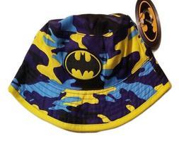 youth batman cap bucket hat blue yellow