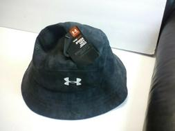UA Under Armour Youth Boy's BLACK camo! Bucket Sun Hat HEATG