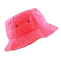 THE HAT DEPOT Youth Kids Washed Cotton Packable Bucket Trave