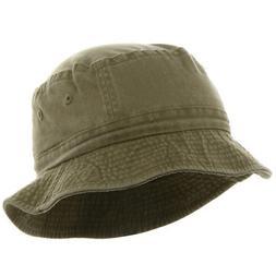 Cameo Youth Pigment Dyed Bucket Hat-Khaki OSFM